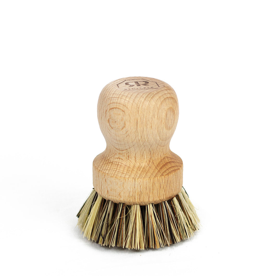 Zero Waste Wood Pot Brush | Well Earth Goods