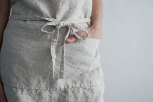 Natural Classic Linen Apron | Well Earth Goods
