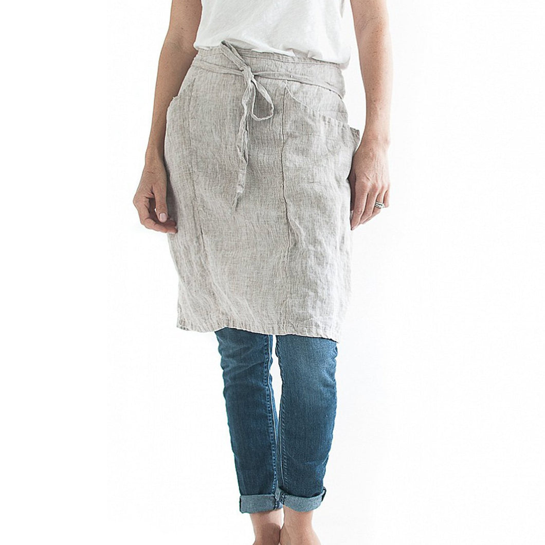 Linen Bistro Apron | Well Earth Goods