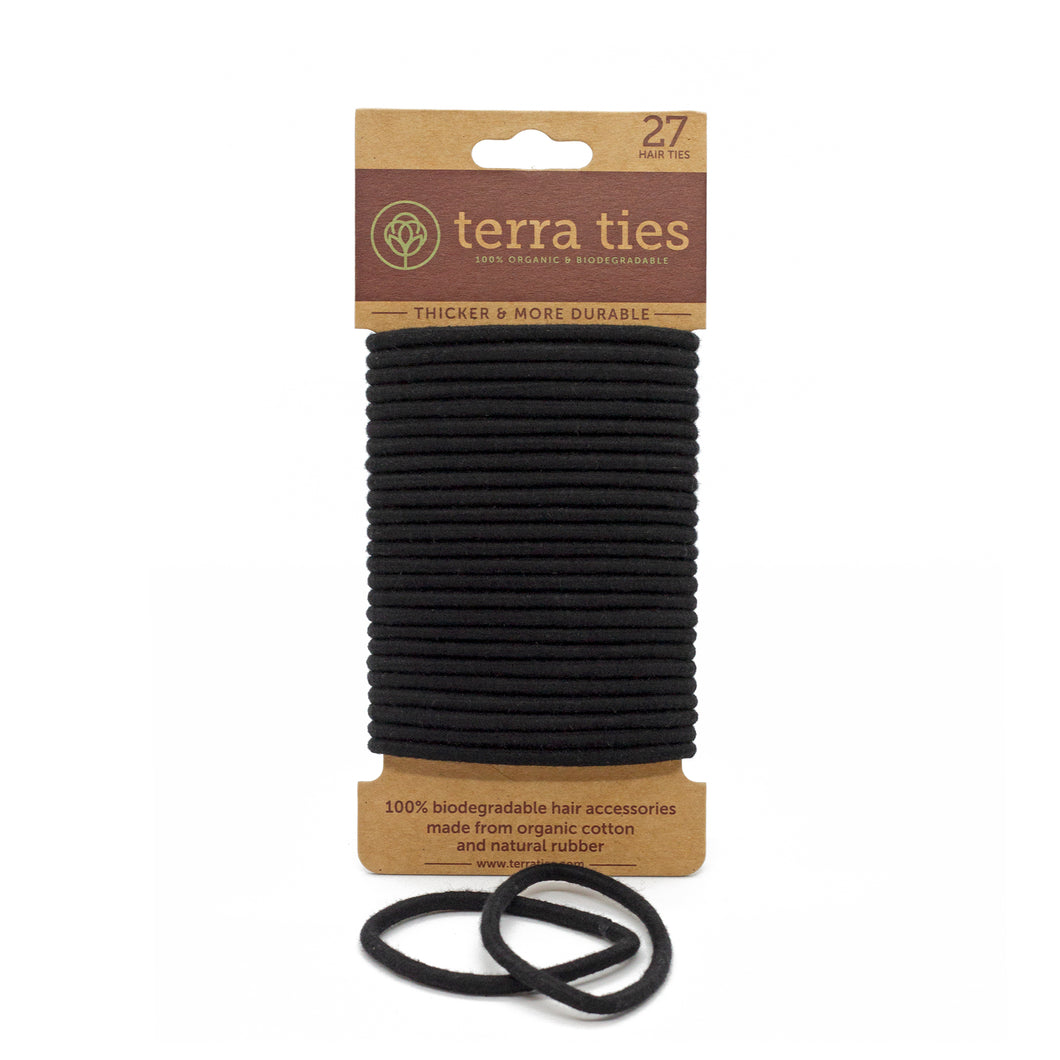 organic biodegradable non-plastic hair ties | Well Earth Goods