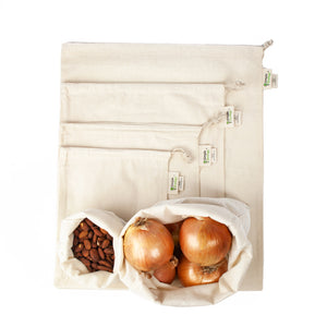 Muslin Organic Reusable Produce Bags | Well Earth Goods