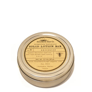 Zero Waste Organic Solid Lotion Bar, Unscented | Well Earth Goods