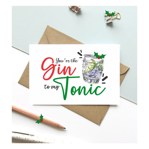 Christmas Gin N Tonic Card