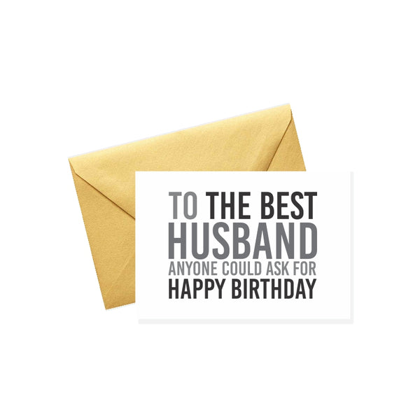 To the Best Husband
