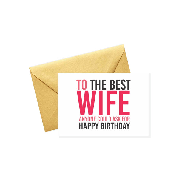 To the Best Wife