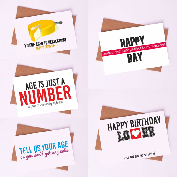 "Birthday Greetings By Card Affairs - A Set of ""Age to Perfection"" Card"