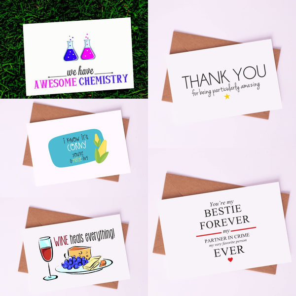 "Couple Love Cards By Card Affairs - A Set of ""Partner for Life"" Love Card"
