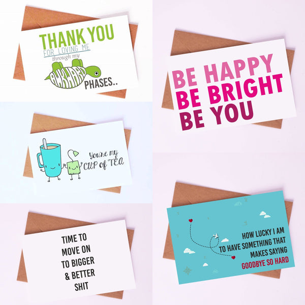 "Couple Love Cards By Card Affairs - A Set of ""Happy & Bright"" Love Card"