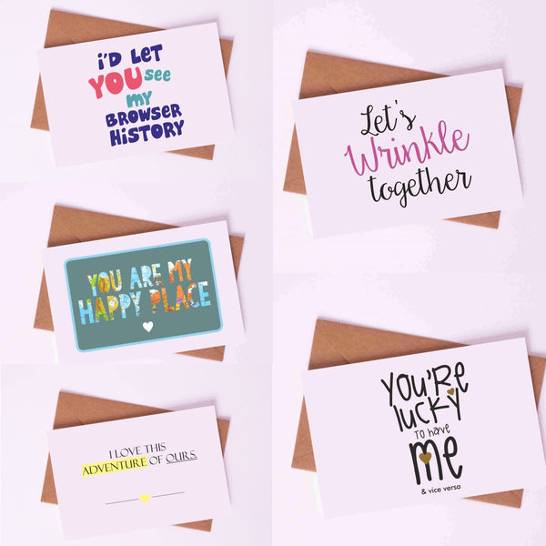 "Couple Love Cards By Card Affairs - A Set of ""Happy Adventure"" Love Card"
