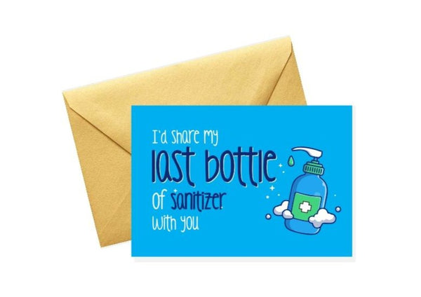 Sanitizer Corona Greeting Card