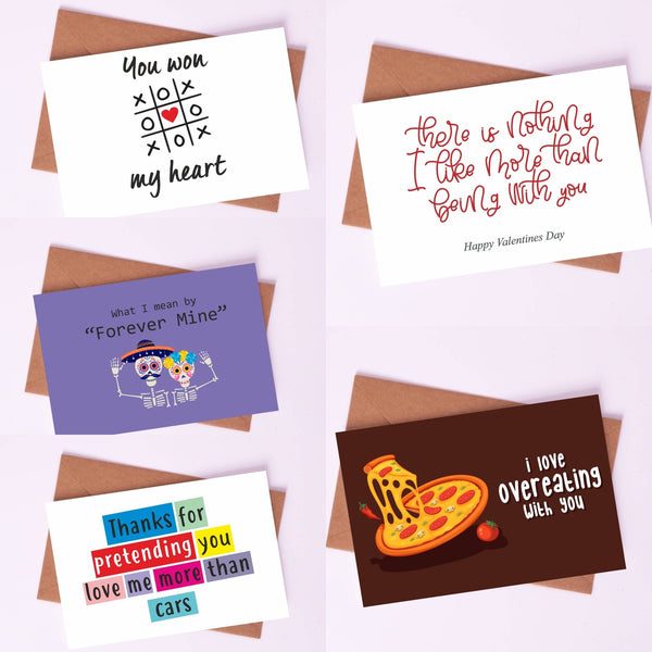 "Couple Love Cards By Card Affairs - A Set of ""Relationship Goals"" Love Card"