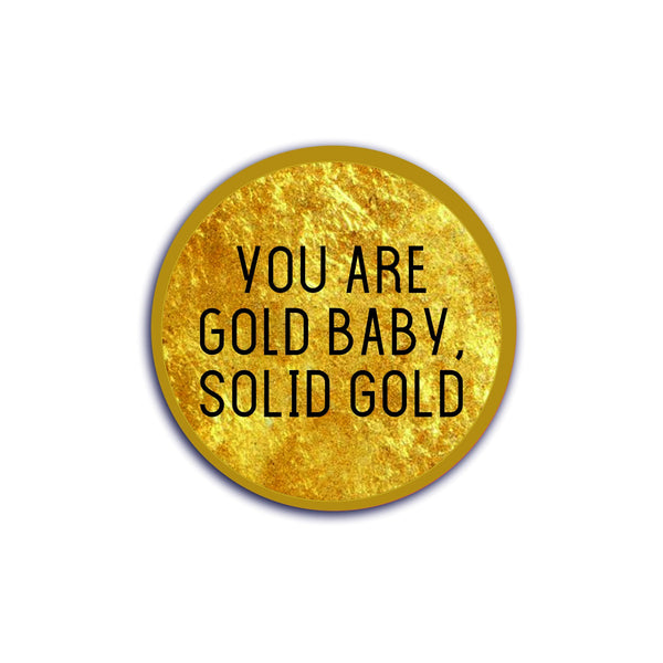 Solid gold baby