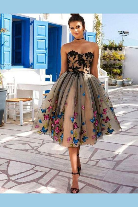 Delightful Beautiful Homecoming Dresses, Appliques Homecoming Dresses, A-Line Homecoming Dresses