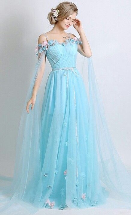 slash neck tulle long prom dress, off shoulder evening dress,floor length prom gowns, 3D Flower Applique evening dress