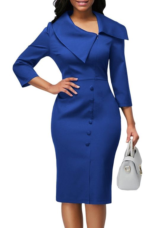 royal blue party dress long sleeve evening dress mermaid homecoming dress Uniquely designed formal dress