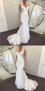 white party dress spaghetti straps evening dress v neck prom dress lace applique formal dress mermaid prom dress