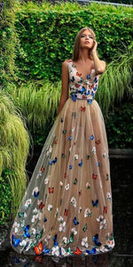Deep V Neck Prom Dress,Sexy Prom Dress,Cheap Evening Dress,Custom Made,Party Gown