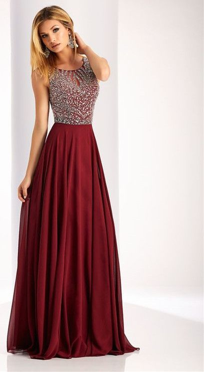 Charming Burgundy Prom Dress,Beaded Prom Dress,Custom Made Evening Dress , Morden Evening Dress,Custom Made,Party Gown