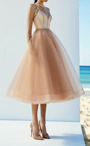 A-line simple prom dress ,pretty evening dress ,party dress tulle