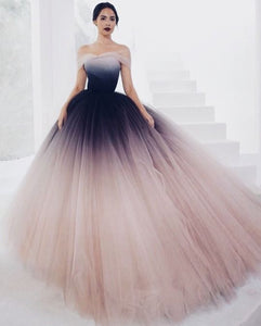 off shoulder prom dress,tulle party dress,long prom dress,elegant evening dres