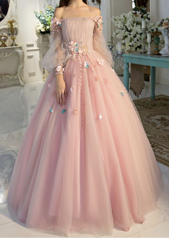 Off-the-shoulder wedding dress long sleeves Prom Dresses Unique Prom Dress Long Evening Dresses strapless party dress