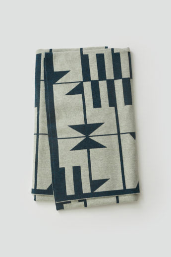 'Keel' Blanket in Ink and Birch