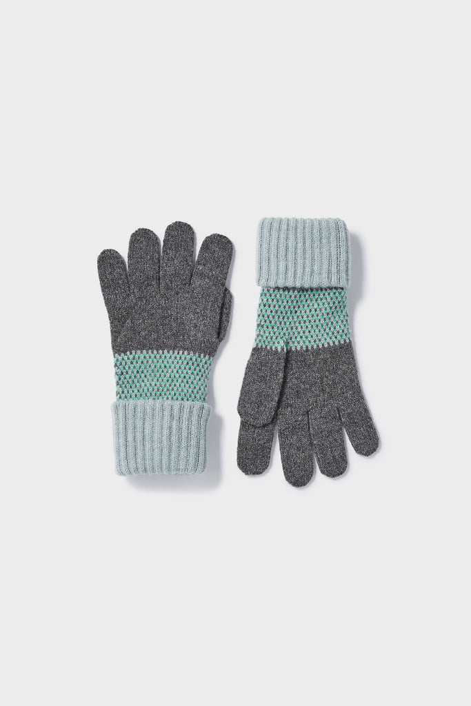 "Gloves ""Tivoli""<br/>Haar, Kelp + Wolf Grey"