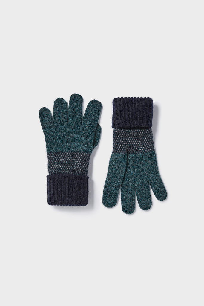 "Gloves ""Tivoli""<br/>Navy, Ink + Wolf Grey"