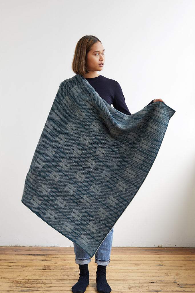 "Small Blanket ""Asplund""<br/>Ink + Birch"