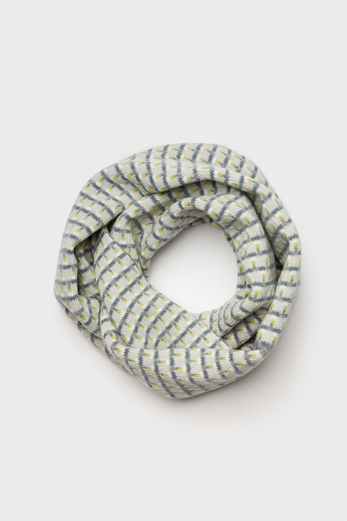"Circle Scarf ""Basket""<br/>Smoke, Lichen + North Sea"