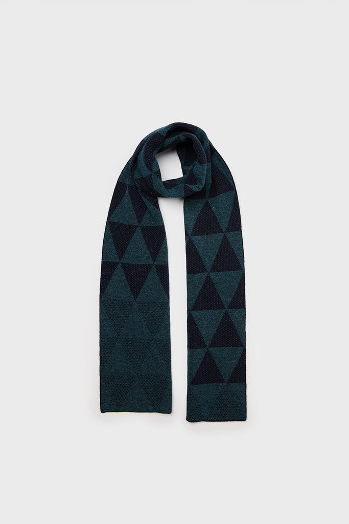 "Small Scarf ""Archipelago""<br/>Ink + Navy"
