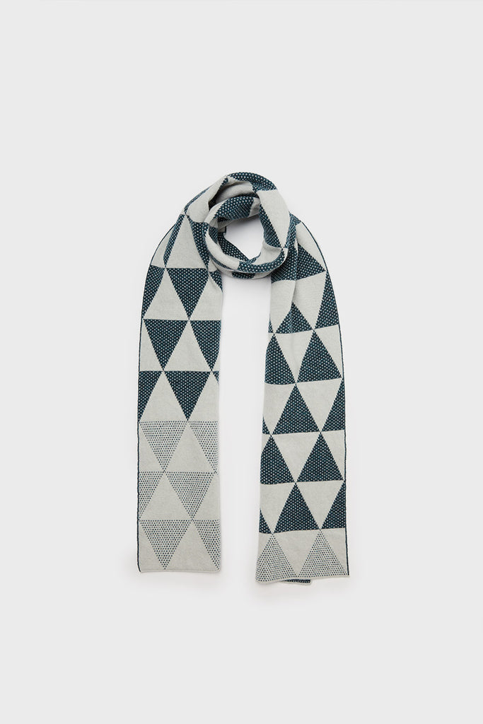 "Small Scarf ""Archipelago""<br/>Smoke + Ink"