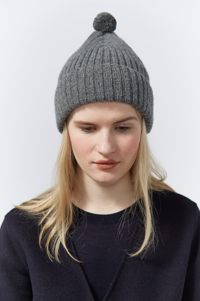 "Pom Hat ""Beacon""<br/>Wolf Grey"