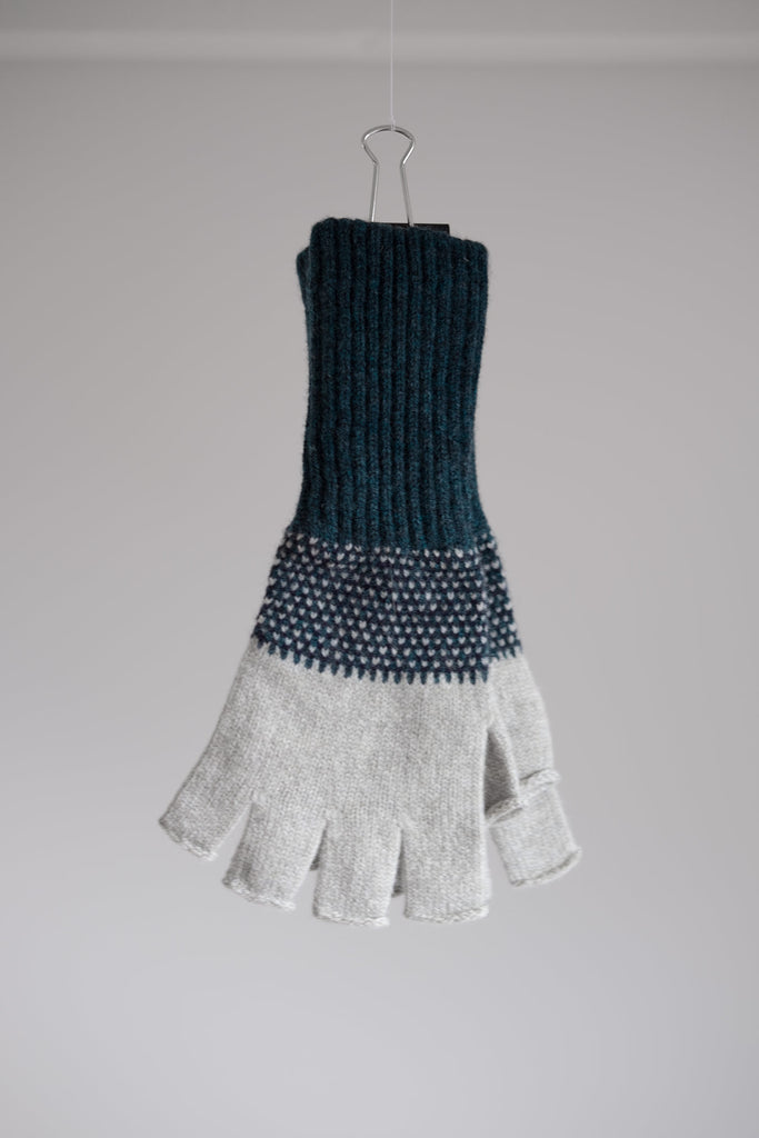 "Fingerless Glove ""Tivoli""</br>Ink + Birch + Navy"