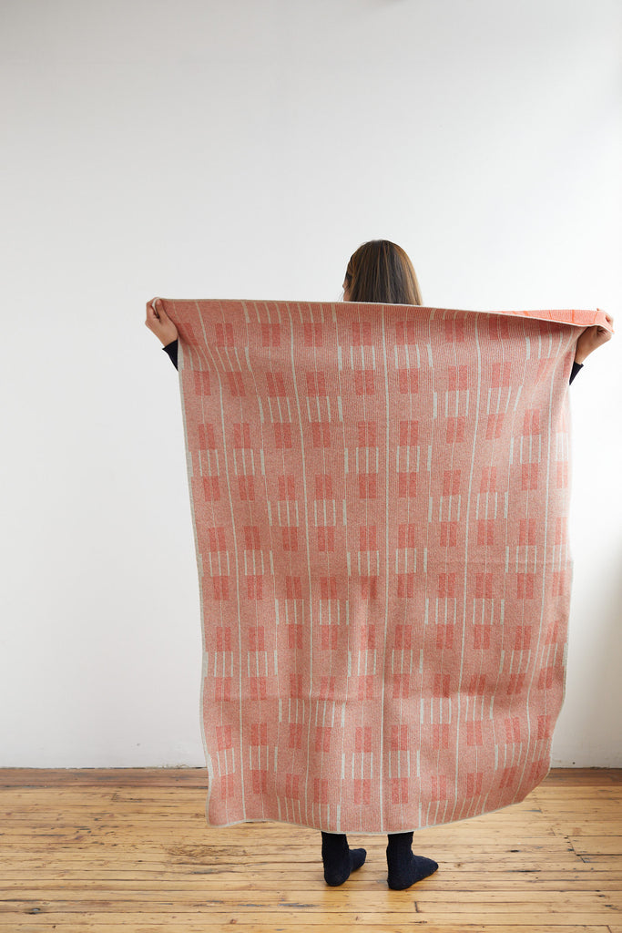 "Small Blanket ""Asplund""<br/>Rust + Birch"