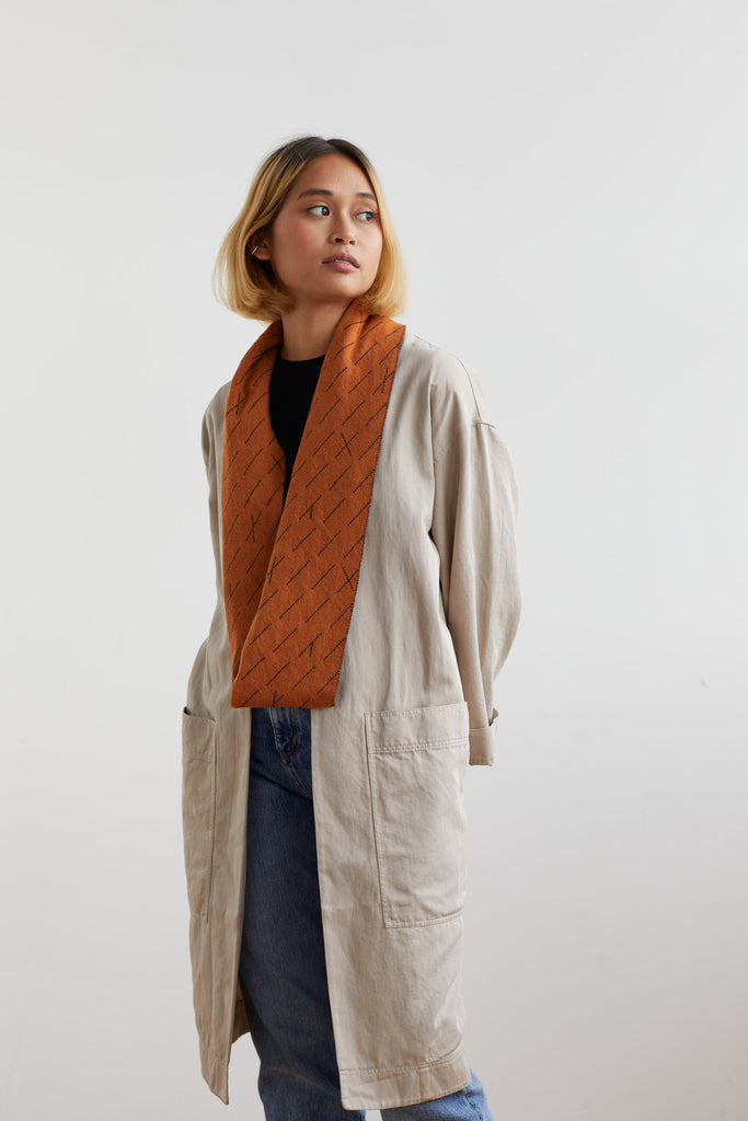 "Circle Scarf ""Forest""<br/>Sienna + Navy"