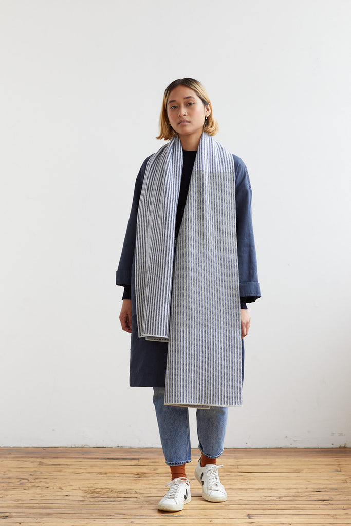 "Scarf ""St Ives""<br/>Birch + Smoke"