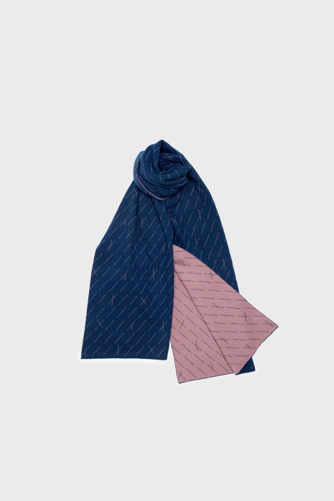 "Scarf ""Forest""<br/>Dusk + Prussian Blue"
