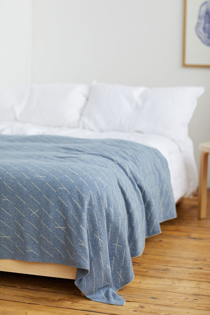 "Bedspread ""Forest""<br/>French Blue + Birch"