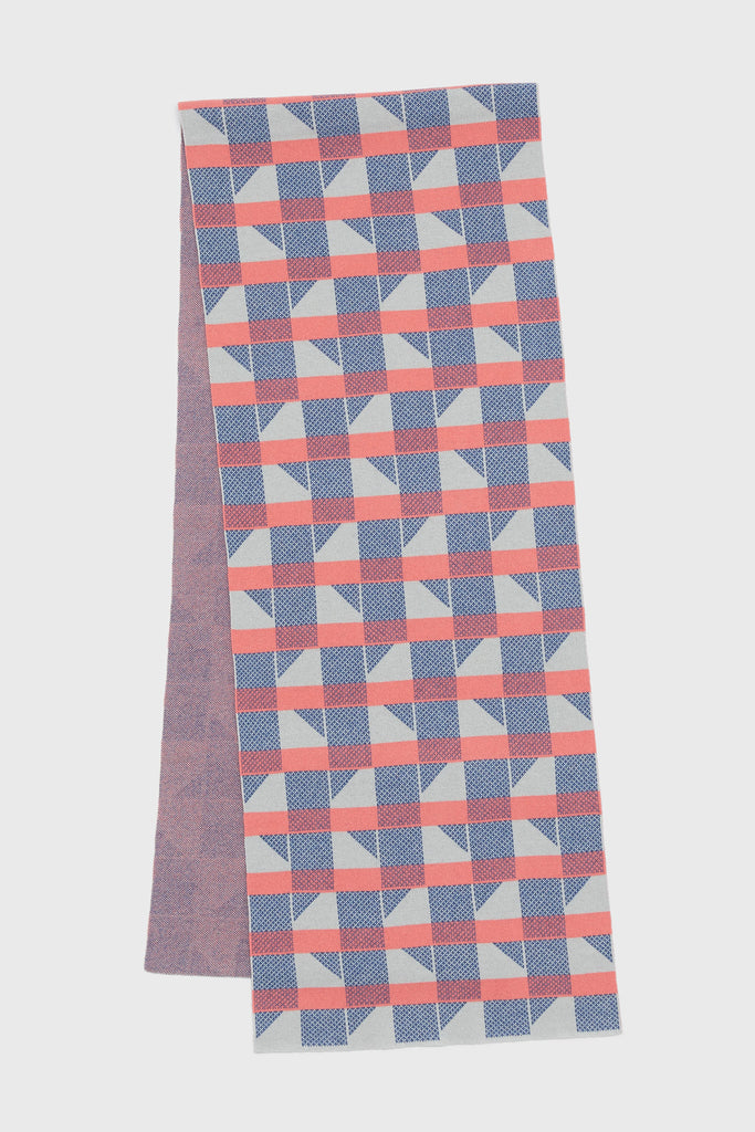 "Scarf ""Flock""<br/>Coral + French Blue"