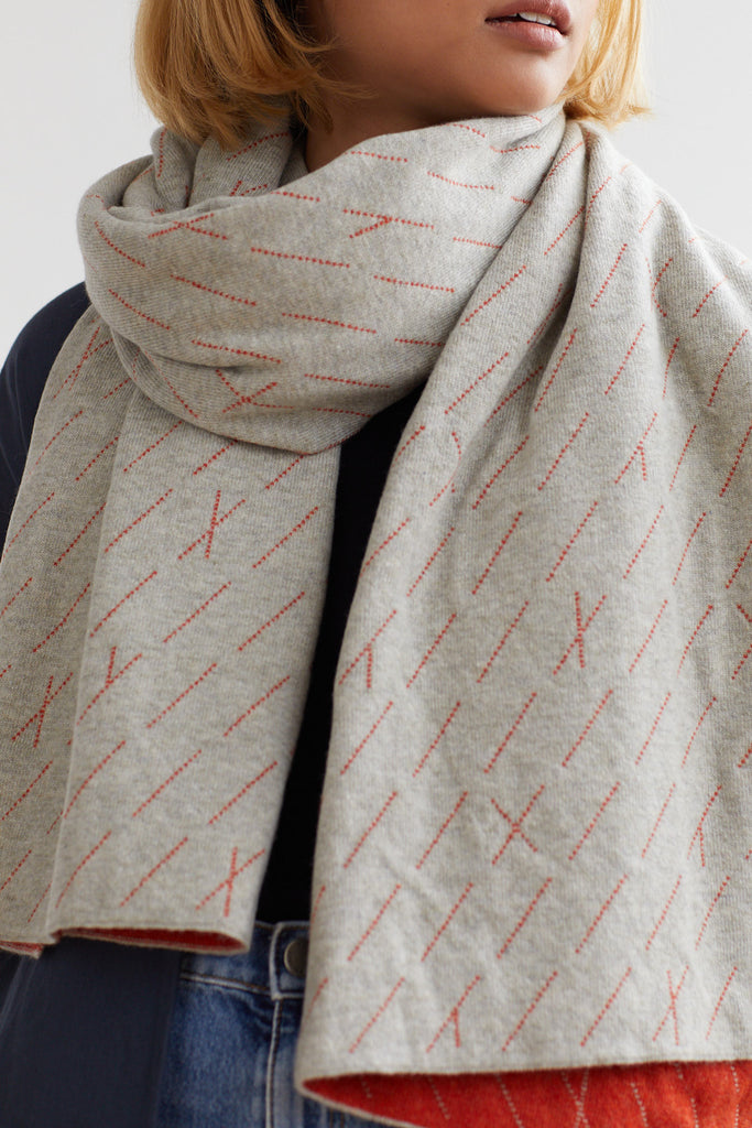 "Scarf ""Forest""<br/>Birch + Rust"