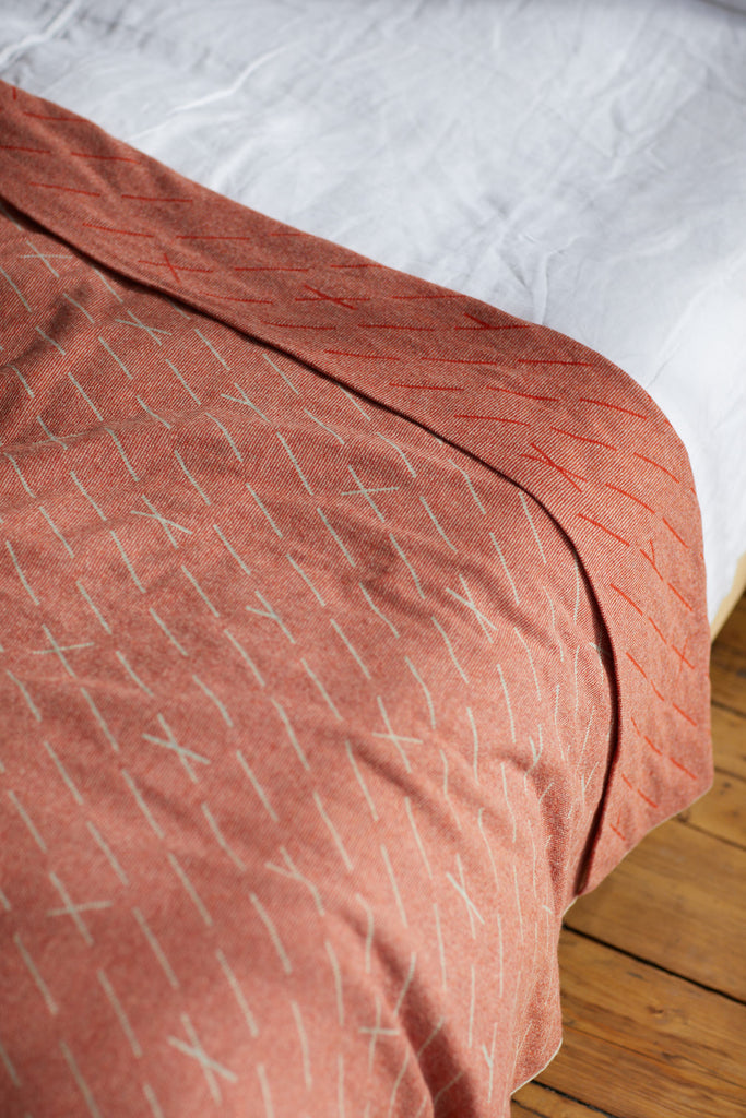 "Bedspread ""Forest""<br/>Rust + Birch"