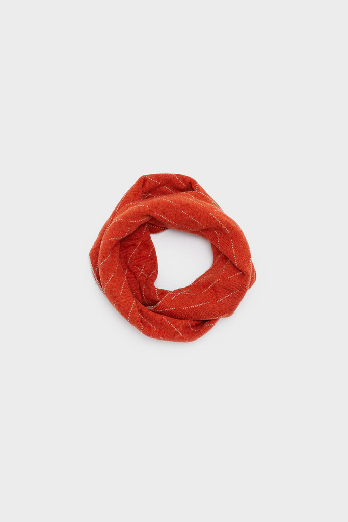 "Circle Scarf ""Forest""<br/>Rust + Birch"