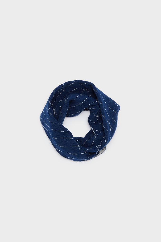 "Circle Scarf ""Forest""<br/>Smoke + Prussian Blue"