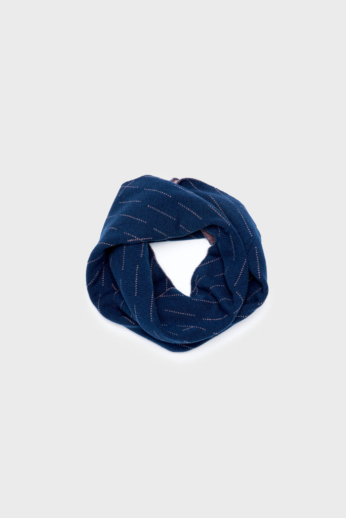 "Circle Scarf ""Forest""<br/> Prussian Blue + Dusk"