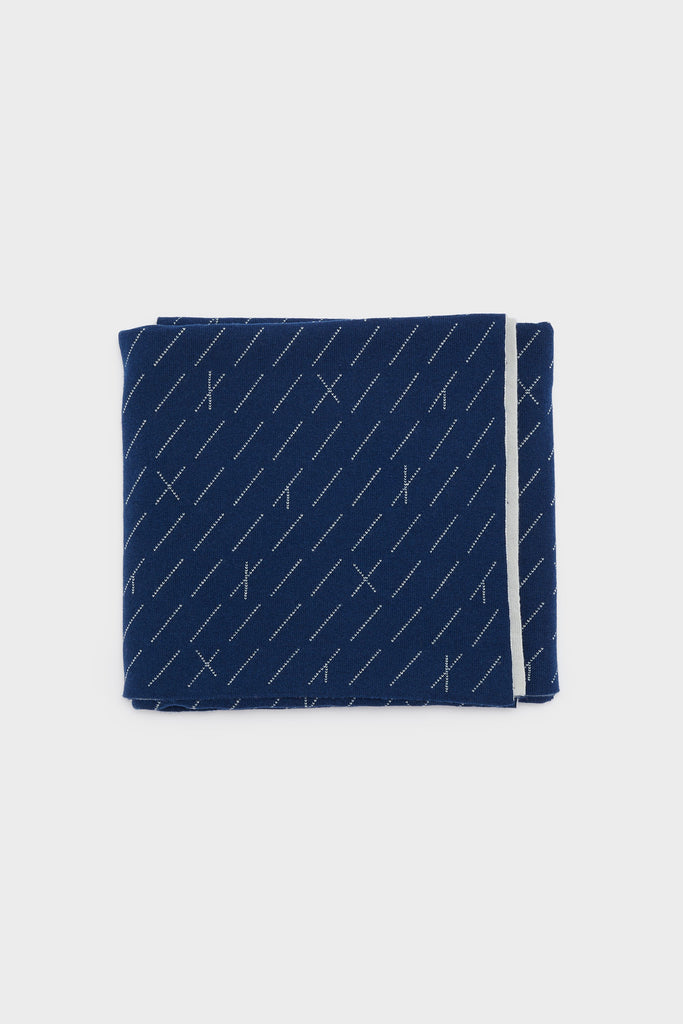 "Small Blanket ""Forest""<br/> Prussian Blue + Smoke"