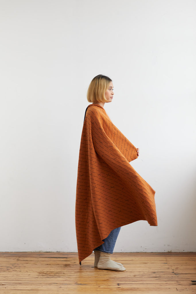 "Small Blanket ""Forest""<br/>Sienna + Navy"
