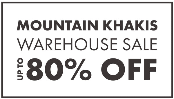 Mountain Khakis Warehouse Sale Charlotte, NC | July 2019