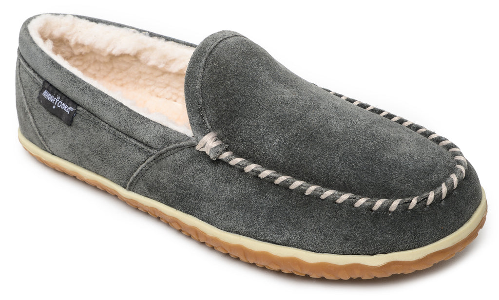Men's Minnetonka Tilden Slipper Grey