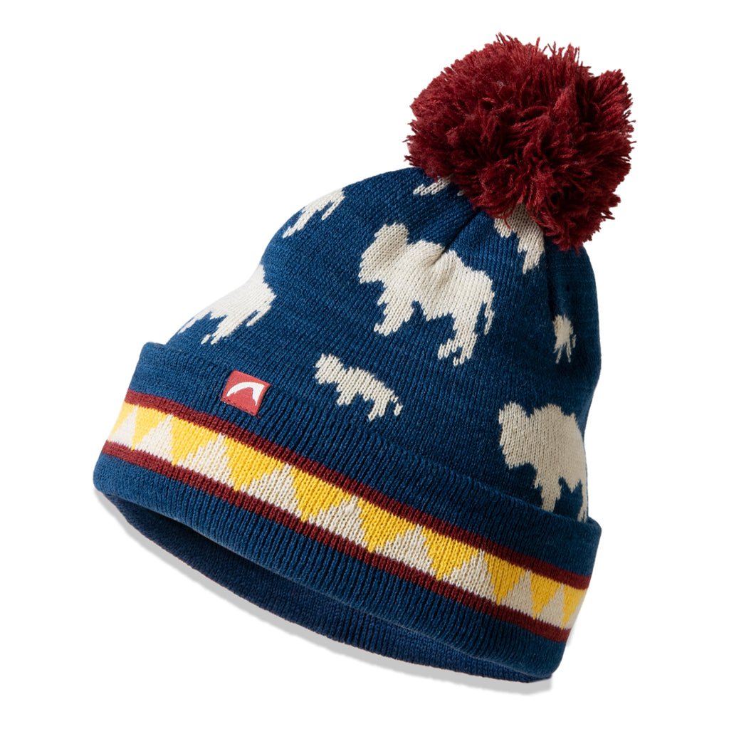Kid's Bison Pom Beanie | Mountain Khakis